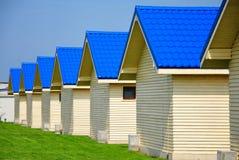 Rij van huizen Stock Foto
