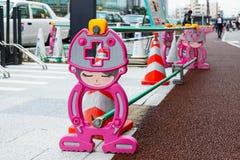 Rij van Japanse bouwbarrière Royalty-vrije Stock Fotografie