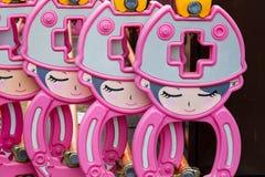 Rij van Japanse bouwbarrière Royalty-vrije Stock Afbeeldingen