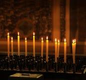 Rij van kaarsen Royalty-vrije Stock Afbeelding