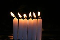 Rij van kaarsen Stock Foto's