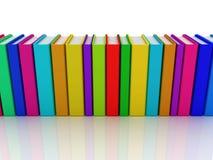 Rij van kleurrijke boeken stock illustratie