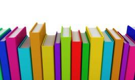 Rij van kleurrijke boeken Stock Afbeelding