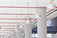 Rij van lamp Stock Fotografie