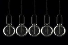 Rij van lightbulbs Stock Foto's