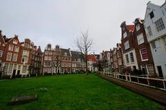 Middeleeuwse Huizen in Begijnhof, Amsterdam Royalty-vrije Stock Fotografie