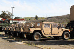 Rij van militaire voertuigen Royalty-vrije Stock Fotografie