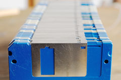 Rij van oude diskettes Royalty-vrije Stock Fotografie