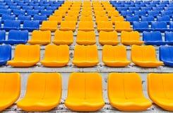 Rij van plastic zetels Royalty-vrije Stock Afbeeldingen