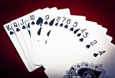 Rij van spades Royalty-vrije Stock Afbeelding