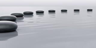 Rij van stenen het leiden Stock Afbeelding