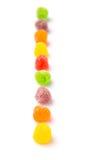 Rij van Sugar Jelly Candy III stock afbeeldingen
