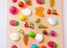 Rij van suikergoed Royalty-vrije Stock Afbeeldingen