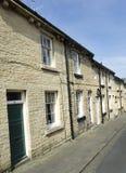 Rij van Terrasvormige Huizen - de Steenstraat van Yorkshire Royalty-vrije Stock Afbeeldingen