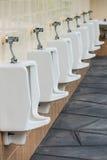 Rij van urinoirspubliek Royalty-vrije Stock Fotografie