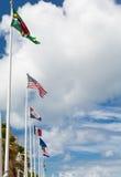 Rij van Vlaggen in Marigot St Martin Royalty-vrije Stock Afbeelding