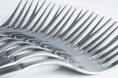 Rij van vorken Royalty-vrije Stock Afbeeldingen