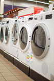 Rij van wasmachines Stock Foto