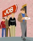 Rij van werkgelegenheid stock illustratie
