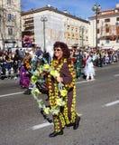 Rijeka, Κροατία, στις 3 Μαρτίου 2019 Χαμογελώντας και καλυμμένη γυναίκα στο Rijeka καρναβάλι στοκ φωτογραφία με δικαίωμα ελεύθερης χρήσης