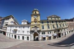 Rijeka barockt stadstorn i Kroatien Royaltyfria Bilder