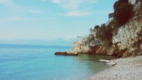 Adriatic beach. Pecine beach in Rijeka,Croatia Royalty Free Stock Photo