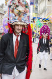 RIJEKA CHORWACJA, MARZEC, - 02: zamaskowany mężczyzna uczestniczy przy roczną karnawałową paradą w Rijeka, Chorwacja na Marzec 02 Zdjęcia Royalty Free