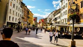 Rijeka city Croatia. Blue sky stock photo