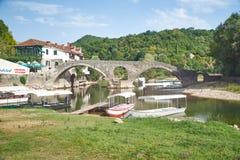 Rijeka Crnojevica Bridge, Montenegro stock image