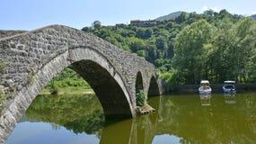 Rijeka Crnojevica bro Royaltyfria Foton