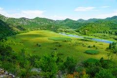 Rijeka Crnojevica, lago Skadar Immagini Stock