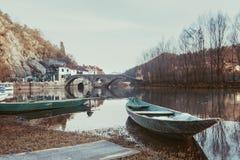 Rijeka Crnojevica village and bridge? royalty free stock images