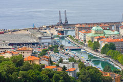 Rijeka, Croatia. Angle view of Rijeka, Croatia stock photo