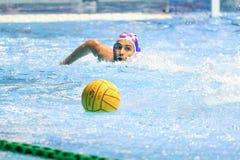 LEN Water Polo Europa Cup, Men`s SUPER FINAL 2018, RIJEKA CRO. RIJEKA, CROATIA April 7: LEN Water Polo Europa Cup, Men`s SUPER FINAL, RIJEKA CRO. Croatia wins Royalty Free Stock Photos