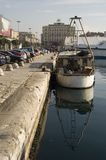 Rijeka Croatia port. Croatian sea port city Rijeka on the Adriatic sea Stock Photography