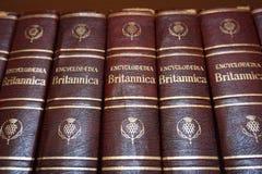 Rijeka, Croatia, September 25, 2018. Encyclopedia Britannica books lined on the library bookshelf. Rijeka, Croatia, September 25, 2018. Encyclopedia Britannica stock photography