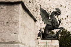 Rijeka Croatia. Trsat basilisk one of the symbols of the city of Rijeka royalty free stock photo