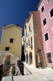 Rijeka gammal stad, Kroatien Arkivfoton