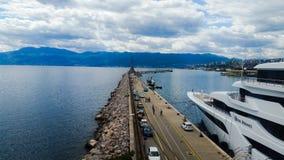 Rijeka harbour. Croatia blue sea royalty free stock photography