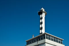 Rijeka lighthouse. Harbor lighthouse was built in 1884 and is one of the symbols of Rijeka, Croatia royalty free stock photography