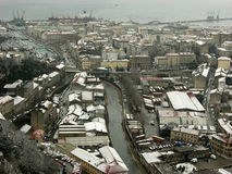 Rijeka panorama Arkivbild
