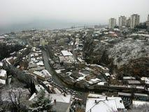 Rijeka Panorama. Panoramic View of Rijeka and Adriatic Sea,Croatia stock image