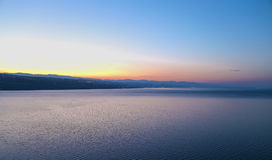 Rijeka, sunset. Beautiful sunset over Rijeka Croatia Royalty Free Stock Image