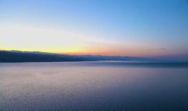 Rijeka, sunset. Beautiful sunset over Rijeka Croatia Royalty Free Stock Photos