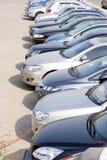 Rijen van auto's royalty-vrije stock foto's