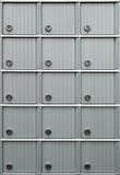 Rijen van brievenbussen Stock Afbeeldingen