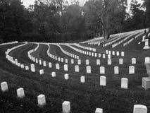 Rijen van Burgeroorlog Witte Grafzerken Stock Afbeeldingen