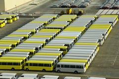 Rijen van Bussen Stock Afbeelding
