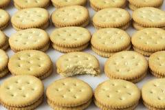 Rijen van crackers Stock Afbeelding