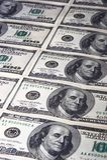 Rijen van dollars Stock Afbeeldingen